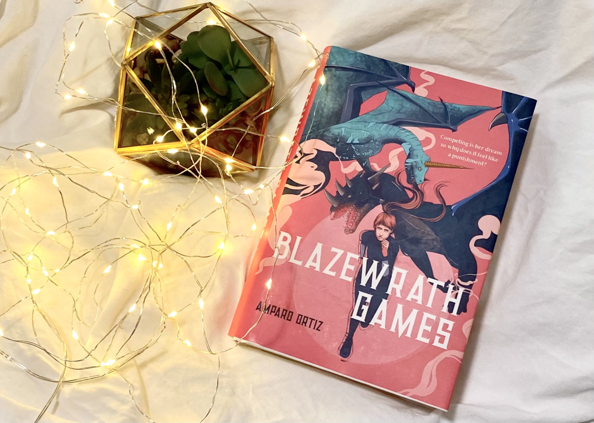 "Decorative photo of the book, ""Blazewrath Games"". Photo: Gabrielle Lopez"